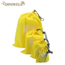 hanging waterproof cosmetic bags Promo Codes - Wholesale- DINIWELL 4x Waterproof Travel Drawstring Dry Storage Bag Shoe Laundry Lingerie Makeup Pouch For cosmetics Underwear Organizer