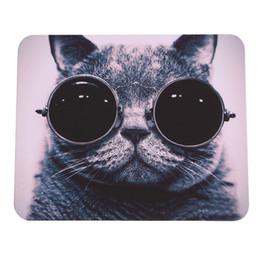 Wholesale Black Cat Picture - Cat Picture Anti-Slip Laptop PC Mice Pad Mat Mousepad For Optical Laser Mouse Promotion gaming desk