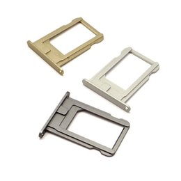 Wholesale Iphone Black Sim Card Tray - Colorful Sim Card Tray Holder Slot with Lettering Replacement for iPhone 5s 6 6 plus, silver black gold rose gold