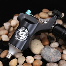 Wholesale Swiss Motor Tattoo Gun - Durable rotary tattoo machine gun liner&shader swiss motor aircraft aluminium black color high quality MDJ-JC-7