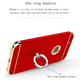 Wholesale Iphone Structure - For iphone 6s 7 ring buckle stents phone cases new structure lightweight cell phone cases pc 3 in 1 shockproof protect phone case