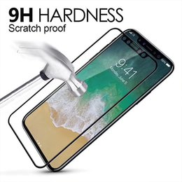 Wholesale iphone titanium cover - For iPhone 8Plus iPhone X Titanium Rim Tempered Glass Full Cover Screen Protector for iPhone7 plus 6S Plus 0.26mm2.5D9H with Package