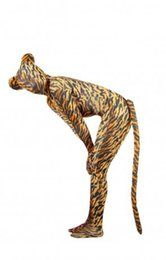 Wholesale Tiger Costume Ears - (LP0) Tiger Lycra Spandex Tights With Ears and Tail Unisex Fetish Zentai Suits