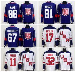 Wholesale Ryan Kesler - World Cup 2016 Team USA Hockey Jerseys US 11 Zach Parise 88 Patrick Kane 81 Phil Kessel 32 Jonathan Quick 67 Max Pacioretty 17 Ryan Kesler