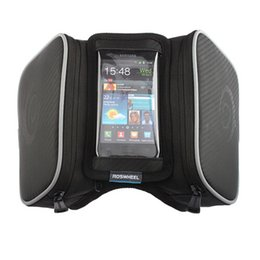 Wholesale Tube Holder Bicycle - Bicycle Bike Saddle Bag Front Tube Frame Cycling Water Resistant Bike Bag Travel Bag 5.5 inch Mobile Phone Screen Touch Holder