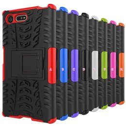 Wholesale Wholesale Xperia Play - Rugged Hybrid Case Shockproof For Moto Z,For Sony Xperia XZ,X compact,Hard PC+Soft TPU Play Kickstand Layer Dual Color Armor Dual Gel Skin