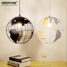 Wholesale Pendant Light Modern Small - Modern Ball pendant light fixture D300mm small Black or White suspension hanging lamp lustre for living room cafe house MD82006