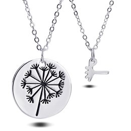 Wholesale Family Specials - 2pcs set Dandelion Pendant Necklace Mother Daughter Necklace Set Jewelry Simple Special Gift For Mom Daughter Family best friends Jewelry