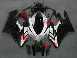 Набор для деконга honda онлайн-Новые белые наклейки 2014 набор инъекции обтекатель кузова набор подходит для Honda CBR1000RR 2004-2005 R08.