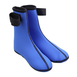 Wholesale Beach Dive - Hosiery for hosiery for diving snorkeling beach swimming With thick warm diving shoes winter socks The coral blue black 139-2