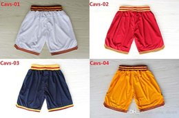 Wholesale Lebron Logo - Free Shipping Basketball Shorts 0 Kevin Love 2 Kyrie Irving 23 LeBron James White Blue Red Yellow Shorts Embroidery Logo