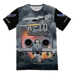 Areja personalizado on-line-Designer personalizado Força Aérea USAF Lutador A-10 Thunderbolt Warthog T-Shirt para Homens 3d Allover Impresso Manga Curta Top Tee Militar presente