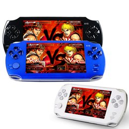 Wholesale Video Real - Handheld Game Console 4.3 inch screen mp4 player MP5 game player real 8GB support for psp game,camera,video,e-book