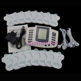 Wholesale Tens Pulse Massager Pads - 16 Pads Electrical Stimulator Full Body Relax Muscle Therapy Massager Massage Pulse tens Acupuncture Health Care Slimming Machine
