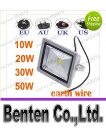 Wholesale Landscape Light Wire - 0W 20W 30W 50W Outdoor LED Floodlight Yards Landscape Lighting Cool Warm White Waterproof Exterior Light With EU AU UK US Plug+Earth Wire