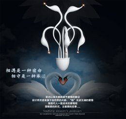 Wholesale Contemporary Art Fashion - European wall lamp contemporary and contracted bedroom lighting art corridor lights LED fashion swan lights A