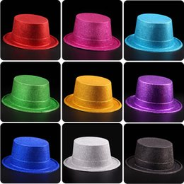 jazz d'or Promotion Chapeaux de performance de la boule de halloween chapeaux de jazz chapeau chapeau de magicien capuchon doré chapeaux de chapeau de poudre d'or