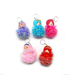 Wholesale Brown Pearl Rings - Confused doll, key buckle, wholesale fashion, mobile phone bags, pendants, plush dolls, key rings, pendants wholesale