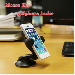 Wholesale Portable Pda - 360 Universal Car Windshield Cradle Phone Clip Mount Desktop portable mouse like Holder for Cell phone GPS PDA