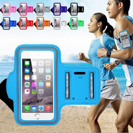 Wholesale wholesale leather arm bands - Waterproof Sports Running Case Workout Armband Holder Pounch For iphone Cellphone Mobile Phone Arm Bag Band high quality