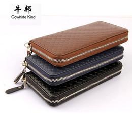 Wholesale Lycra Masculina - Business Men Long Wallet Designer Zipper Leather Male Purse Brand Mens Zipper Handy Bag Luxury Wallets carteira Masculina