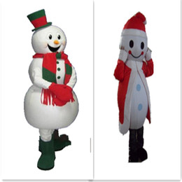 Wholesale Popular Halloween Costumes - Christmas Snowman mascot costume popular Christmas Halloween snowman costumes for Halloween party supplies adult size mascot free shipping