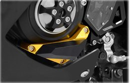 Wholesale Cnc Engine Cover - KODASKIN Motorcycle CNC Aluminum Engine Cover Frame Sliders Crash Protector Left Pad For Yamaha YZF R3 R25