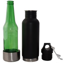 Wholesale 12 Oz Bottle Wholesale - Beer Bottle Cooler Insulator Stainless Steel VacuumThat Keeps Your Beer Cold 12 oz Universal Fit Liquid Tight Seal With Opener and handbag 2