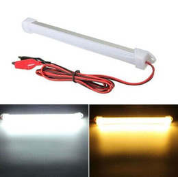 Wholesale Red Emergency Led - 20CM 5630 LED Bar Light Blue Green Red White Warm White Waterproof U Groove 15leds DC 12V 5630 LED Rigid Strip