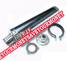 Wholesale Exhaust Street Bikes - stainless motorcycle modified exhaust end-to-end pipe accessories street bike Refires imitating CARBON FIBER for cb400 VTEC cbr2
