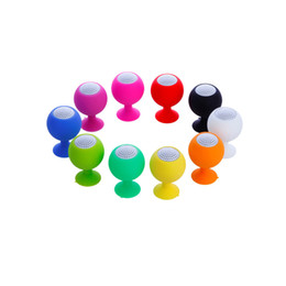 Wholesale Octopus Suckers - Wholesale Mini Waterproof Silicone Sucker Holder octopus Shaped Speaker for phone MID PC MP3 with 3.5mm Jack