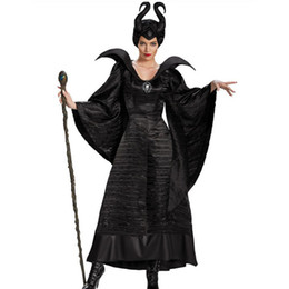 Wholesale Women Sleeping Beauty Costume - Halloween Sleeping Spell Black Witch Game Cosplay Costume Queen Cosplay Costume