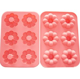 Wholesale Doughnut Mold - Baking mold Doughnut Silicone Mould Muffin Cake Chocolate Cookie Candy DONUT Bake Mold Brand New Good Quality Free Shipping