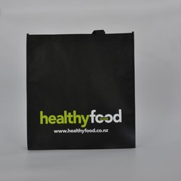 Wholesale Low Price Weave - customize 80G black non woven reusable shopping bag 30*40*10CM with logo printing lowest price free shipping