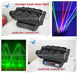 Wholesale Single Beam Laser Lights - single green laser light 8x10 moving head rgb spider beam laser light 10w for disco concert night party