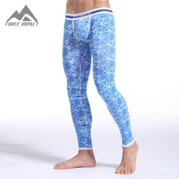 Wholesale Thermal Clothing China - Wholesale-Free Shipping! Hot China Style High Quality Cotton Bottom Thermal Long Johns  Men's underpants  Sleepwears  Warm Clothes