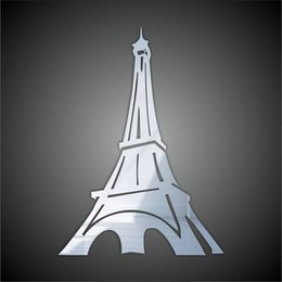 Wholesale Famous Backgrounds - Tower mirror wall stickers wedding room decoration new house entrance Restaurant classroom background removable new 2016 European