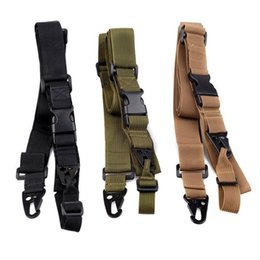 Wholesale Elastic Gun - 3 Point Airsoft Hunting Belt Tactical Military Elastic Gear Gun Sling Strap Outdoor Camping Survival Sling Multifunctional Strap Accessories