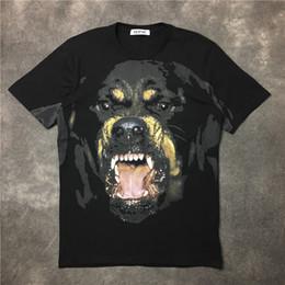 Wholesale Rottweiler Tee Shirts - 2017 High Quality new fashion Rottweiler dog print O-neck Black tee t shirts for men women cotton short sleeve tee shirt homme