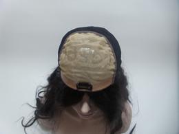 Perucas cheias do cabelo humano do couro cabeludo on-line-Lindo brasileiro Striker Wigs Ondulado Full Lace Top Couro Cabeludo Tecidos Simulação De Seda De Um Cabelo Humano Perucas Completa Bead 150% Densidade Do Cabelo Kabell
