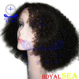 Wholesale Virgin Afro Kinky Lace Front - Afro Kinky Curly Silk Top Lace Front Human Hair Wigs Virgin Peruvian Glueless Front Lace Wig Human Hair Color #1B for Black Women