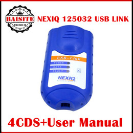 Wholesale Truck Diagnostic Software Interface - Professional heavy duty truck diagnostic scanner NEXIQ USB Link 125032 + Software Diesel Truck Diagnose Interface Nexiq USB with adapters