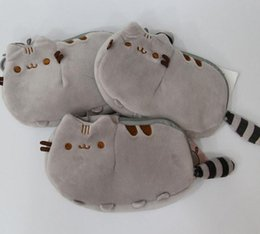 Wholesale Mini Coins Toy - Pusheen Cat Plush Stuffed Doll Animals Coin Bag Toys 18x12cm Pusheen Coin Bag Plush Coin Purse KKA2288