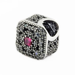 Wholesale bead treasures - Authentic 925 Sterling-Silver-Jewelry Fairytale Treasure Charms Beads For DIY Brand AAA CZ Square Charm Bracelets Jewelry Making Accessories