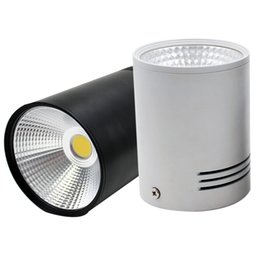 Wholesale 7w cob led driver - Wholesale- GD 7W 10W 15W 20W COB LED Downlight Dimmable Surface Mounted Ceiling Spot Light AC110V-220V Ceiling Lamp With Driver White black