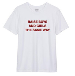 Wholesale Hipster Boy Shorts - Wholesale-Raise Boys and Girls red Letters Print Women tshirts Cotton Casual Funny T Shirt For Lady Top Tee Hipster White Z-245