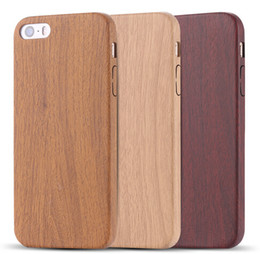 Wholesale Iphone 5s Covers Wood - Vintage Wood Bamboo Pattern Leather PU Cases for iphone 4 5 5s 6 6plus Luxury Slim Back Cover Mobile Phone Protector Accessories