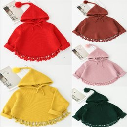 Wholesale Cotton Batting Wholesale - 5 color Hot selling Korean style candy color Hooded long sleeved pullover Tassels Bat sweater 100% cotton solid color spring autumn sweater