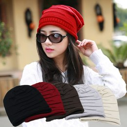 Wholesale Wholesale Polyester Beanies - New kniting ski BEANIE SKULLS WOMEN MEN HOT HATS slouch cool thin chic spring Autumn winter sport Hip Hop in stock High-quality caps