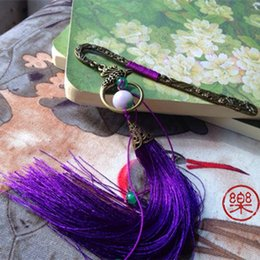 Wholesale Chinese Classical Hair - Wholesale-free shipping Handmade tassel metal bookmark classical chinese style hair stick hairpin 9